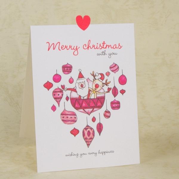 Cartões De Natal Dos Desenhos Animados Papai Noel Da Rena Cartão