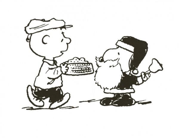 Desenho De Charlie Brown E Snoopy Noel Para Colorir