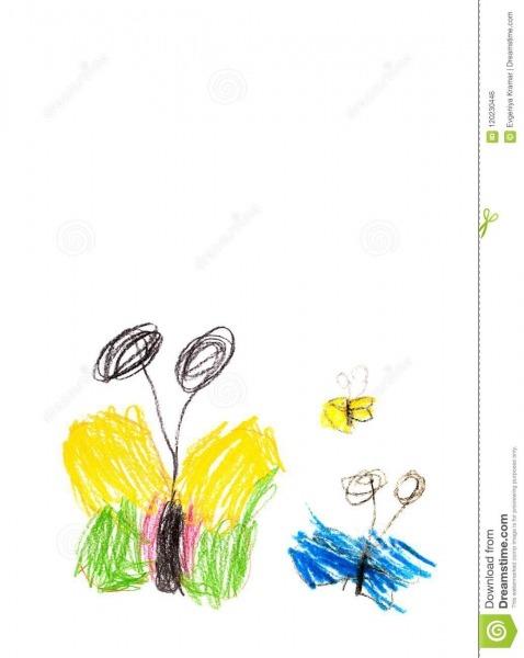 Criança Das Borboletas Do Desenho 4