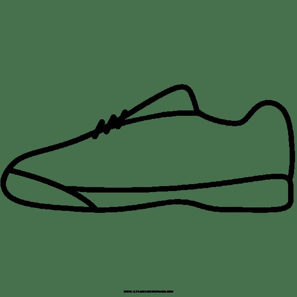 Sapato De Ginástica Desenho Para Colorir