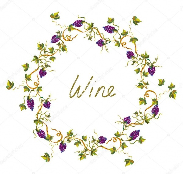 Etiqueta De Vino O Fondo Con Vid Y Uva