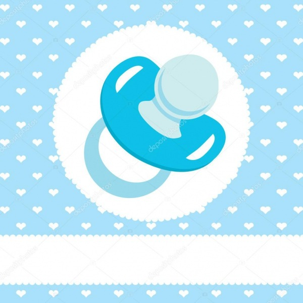 Desenho De Chupeta Azul — Vetor De Stock © Kakigori  40591953