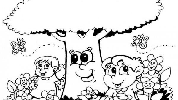 Desenho Da Primavera Para Colorir  Imagens Para Educação Infantil
