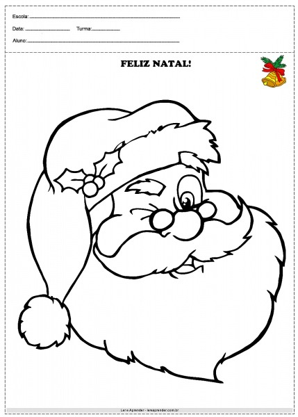 Desenho Papai Noel Para Colorir