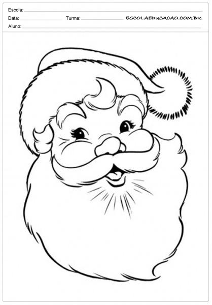 Desenho De Papai Noel Para Colorir Online