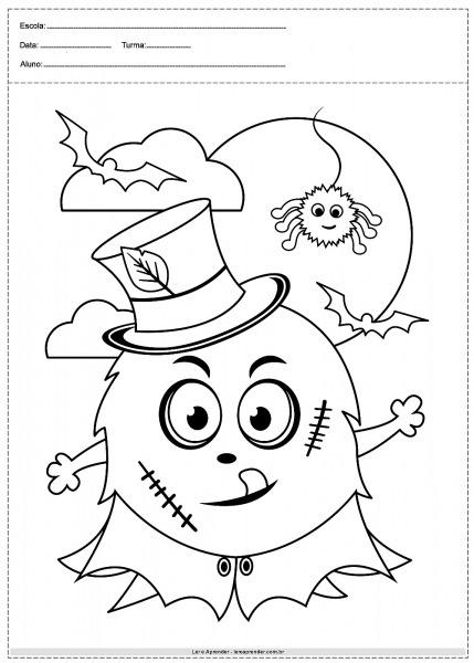 40 Desenhos De Halloween Para Colorir