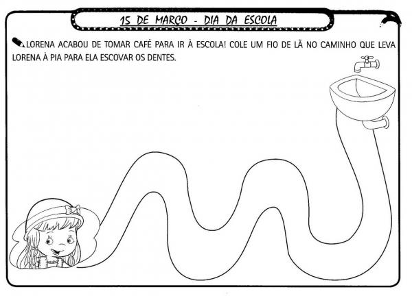 Dia Da Escola Atividades ExercÍcios Desenhos Colorir Imprimir Vi