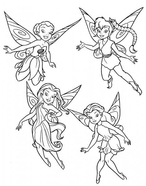 Dibujos De Todas Las Hadas De Tinkerbell Para Colorear