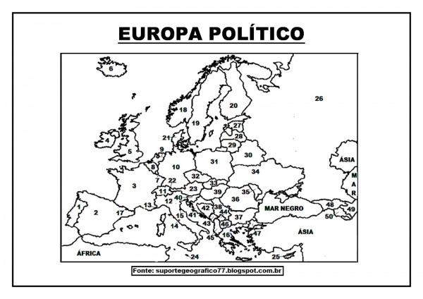 Suporte Geográfico  Europa