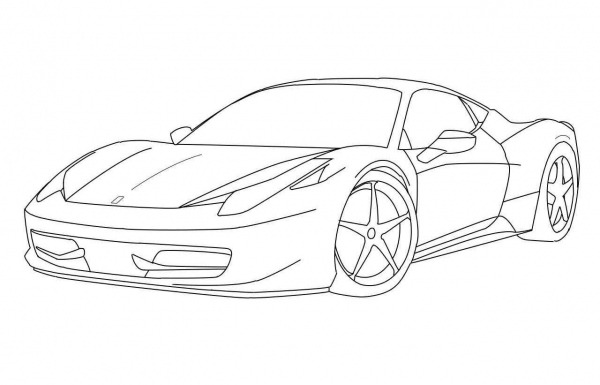 Coloring Pages   Ferrari Coloring Pages Awesome Freehini Bugatti