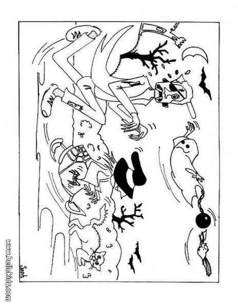 Desenhos Para Colorir De Desenho De Gostosuras Ou Travessuras Do
