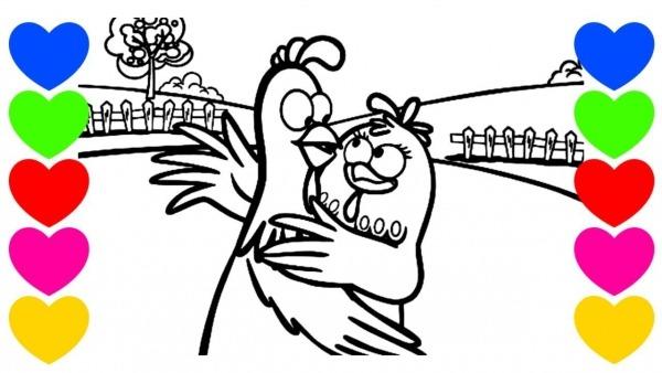 Desenho De Pintar Da Galinha Pintadinha