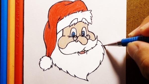 Como Desenhar E Pintar O Papai Noel 🎅