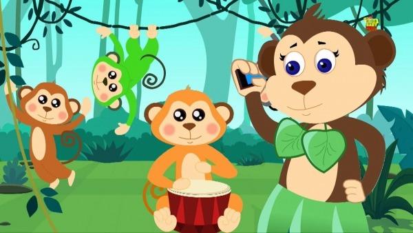 Cinco Macacos Pequenos