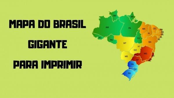 Mapa Do Brasil Gigante Para Imprimir, Montar E Colorir