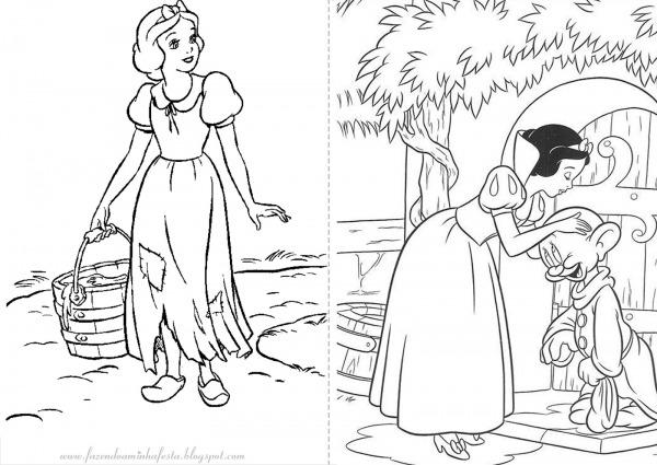 Desenhos Da Branca De Neve Para Colorir