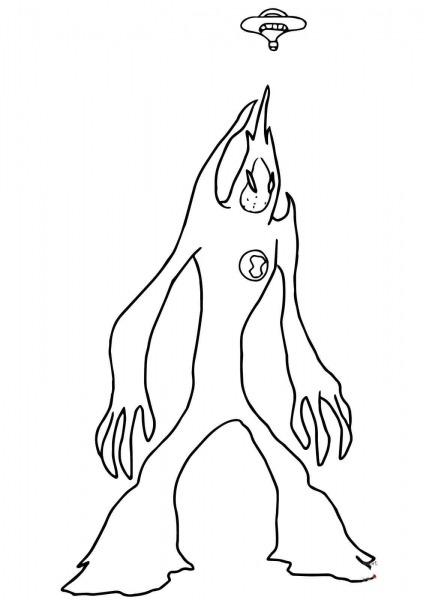 Desenho De Monstro Ben 10 Força Para Colorir