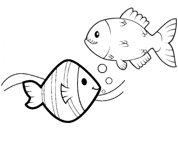 Imagens De Desenhos De Peixes Para Colorir