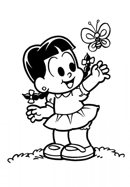 Desenho De Rosinha E Borboleta Para Colorir