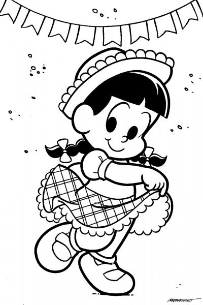 Desenho De Rosinha Na Festa Junina Para Colorir