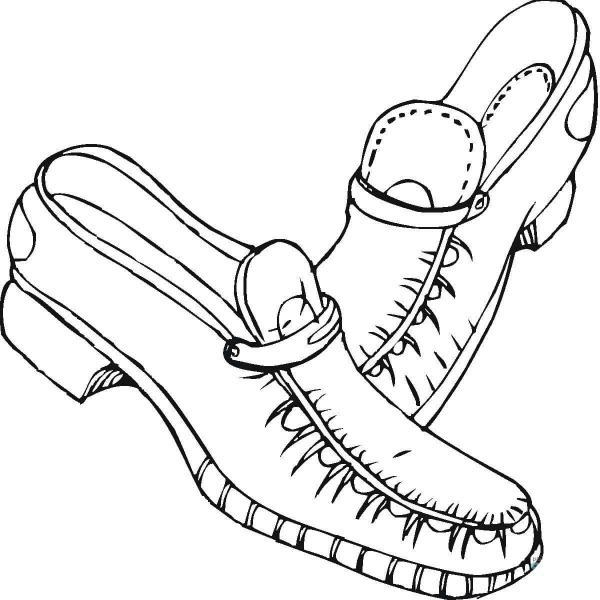 Desenho De Sapato Mocasim Para Colorir
