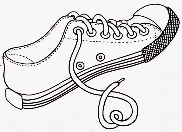 Guitar Tv  Sapato Para Colorir