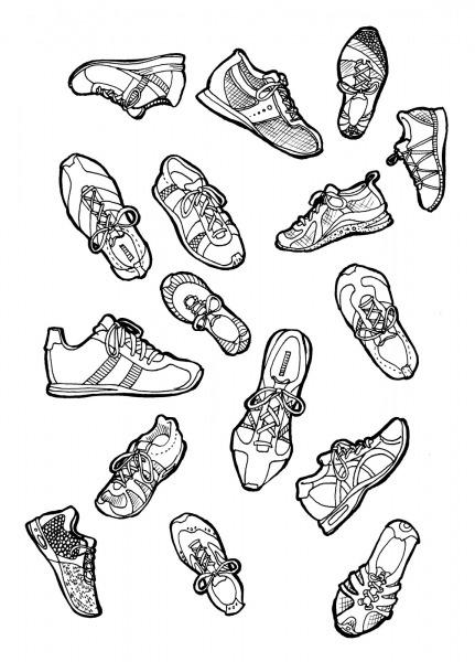 Desenho De Tipos De Sapatos Para Colorir