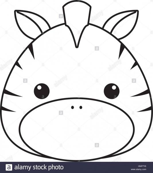 Zebra Drawing Face Stock Vector Art & Illustration, Vector Image
