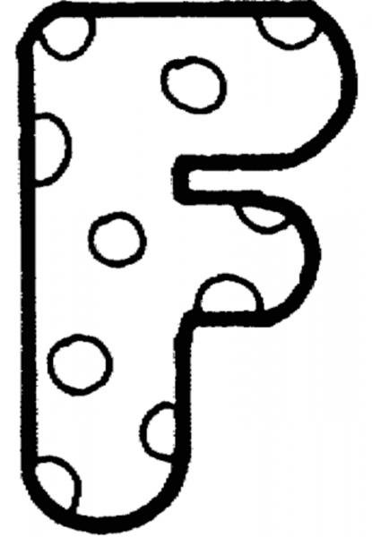 Desenhos De Letra F Para Colorir E Imprimir