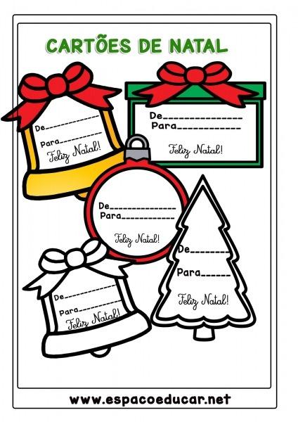 11 Lindos CartÕes Ou Etiquetas De Natal Para Presentes