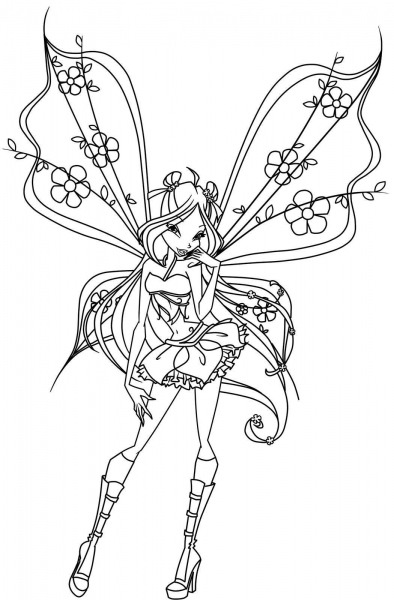 Winxclub Images Winx Club Coloring Pages Hd Wallpaper