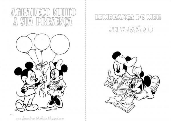 Fazendo A Minha Festa Para Colorir  Mickey E Minnie