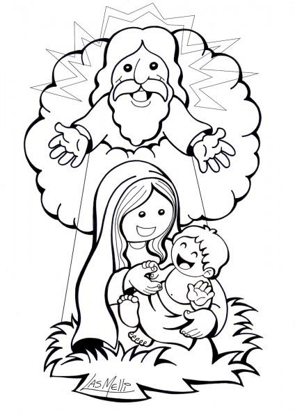 Jesus Y Maria Animado Para Colorear