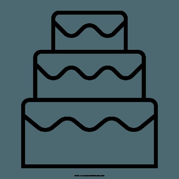 Bolo De Casamento Desenho Para Colorir