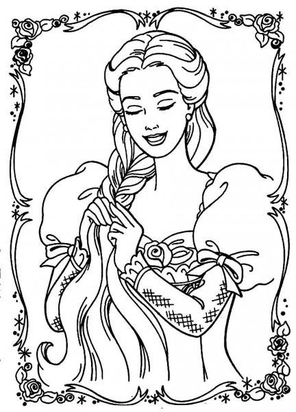 Barbie Rapunzel Para Colorir