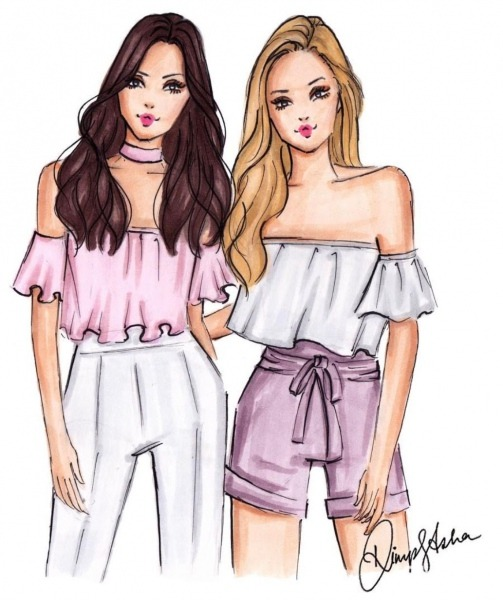 Tag Your  Bff By @dimple_asha_illustration  Fashionillustrations