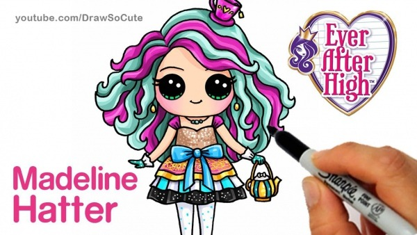 How To Draw Madeline Hatter Step By Step Chibi
