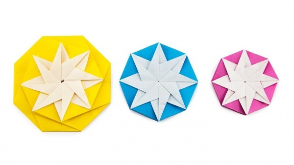 Origami 8 Point Star Decoration Tutorial