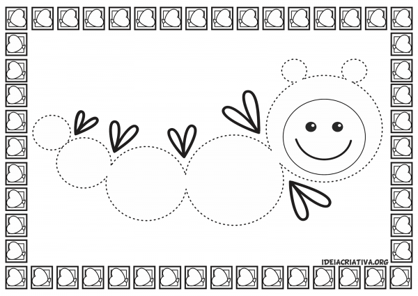 Psicomotricidade Ficha Com Desenhos Tracejados Para Imprimir