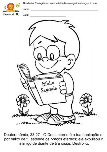 Desenhos Para Colorir Evangelicos Infantil