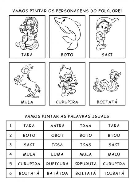Atividades De Folclore Para Imprimir