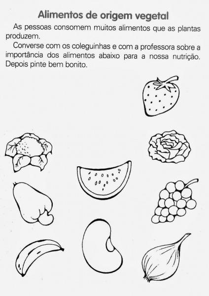 Melhor De Desenhos De Alimentos Para Colorir E Imprimir