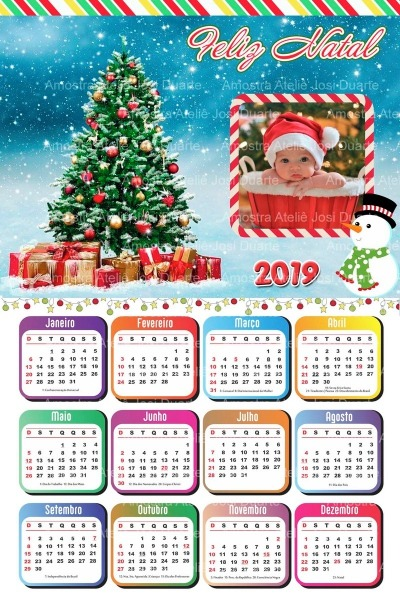 Calendário De Natal Para Imprimir No Elo7