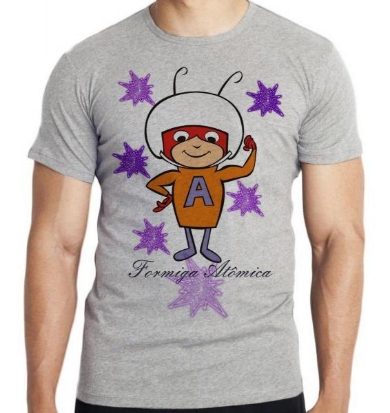 Camiseta Infantil Formiga Atômica Desenho Antigo Hanna Barbe