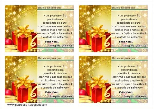 Cartão De Natal P  Imprimir