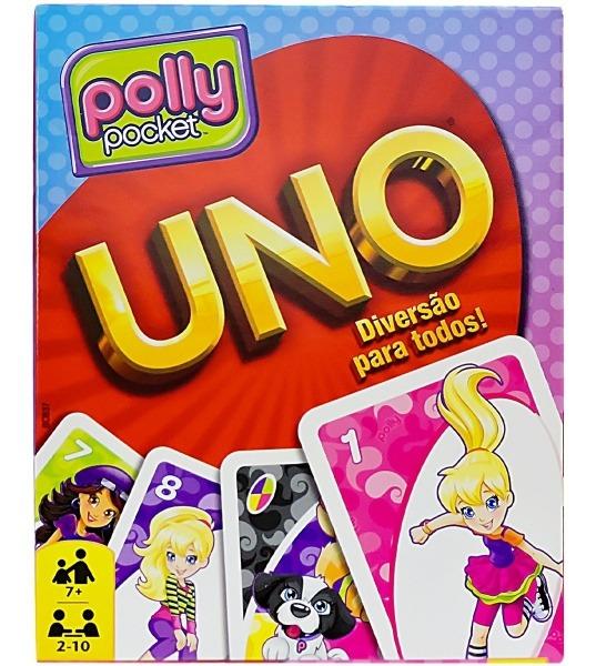 Coleção Com Jogo Uno Polly Mattel E Kit Com 4 Anéis Barbie