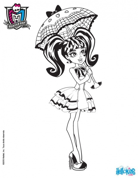 Draculaura Doll Coloring Pages