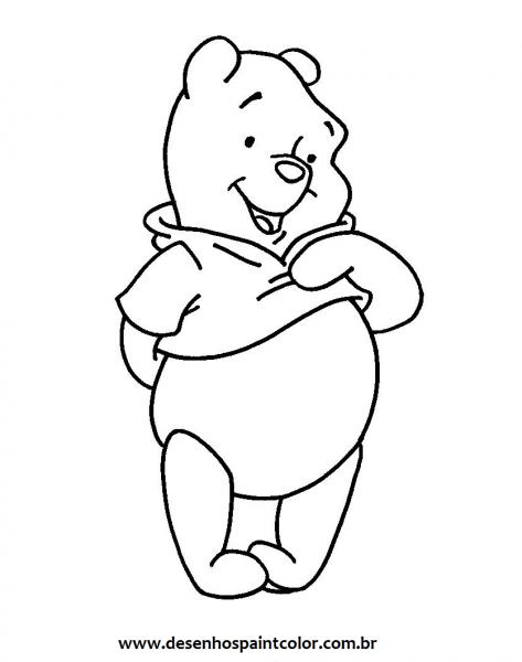 Desenhos Para Pintar  Colorir Ursinho Pooh Pintar Ursinho Pooh