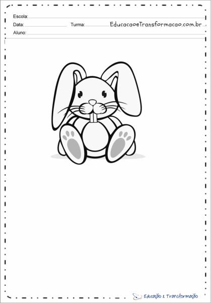 Desenho De Coelho Para Colorir E Imprimir
