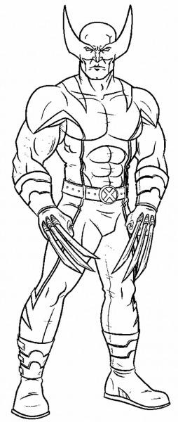 Desenhos De Wolverine Para Colorir E Imprimir